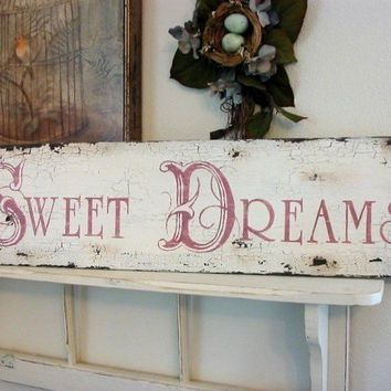 SWEET DREAMS Shabby Cottage French Chic by thebackporchshoppe