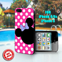 Minnie Mouse Custom - Print on Hard Case - Fit For iPhone 4,4S, and 5 - Please leave a message for your iPhone Case & Color Case