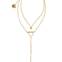 Dainty Drop Necklace - Gold