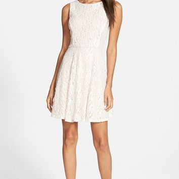 Junior Women's Speechless Embellished Skater Dress,