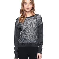 Cropped Sheer Daisy Jacquard Pullover by Juicy Couture