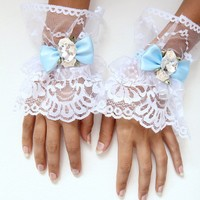 Alice in Wonderland Lace Cuffs by mademoisellemermaid on Etsy