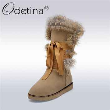 ODETINA -  Women's Winter Warm Faux Fur Fashion Snow Boots*