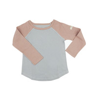 Baseball shirt - tea rose