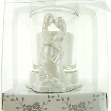 Wedding Bridal Shower Anniversary Party Favor Souvenir Gift Keepsake Ready Made, Votive Candle, Couple Sculpture