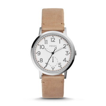 Everyday Muse Multifunction Light Brown Leather Watch - $125.00