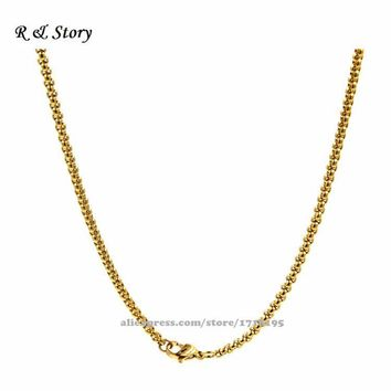 Floating Locket Chain - Gold Rope Chain - Memory Locket Chains LFH_009