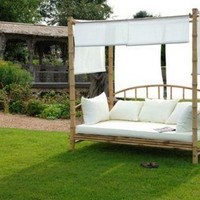 Bamboo Day Bed With Cushion - Sweetpea & Willow London