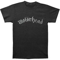 Motorhead Men's  Motorhead Distressed Logo Vintage T-shirt Heather Graphite