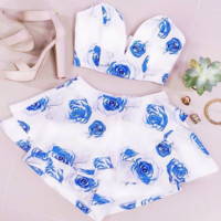 Blue Rose Two-Piece Set