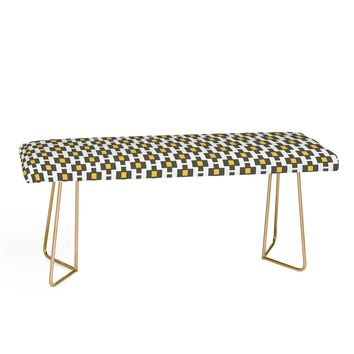 GREY GOLD GEOMETRY Bench by Raven Jumpo
