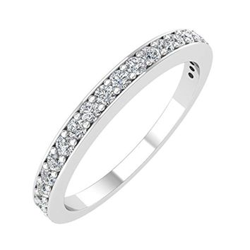 IGI Certified 1/4 Carat 14k Gold Wedding Diamond Band Ring