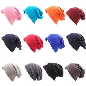 Winter Beanies Gorros 20 Color Womens Beanie Hat Women Cotton Solid High Cost Performance Casual Multifunctional Skullies
