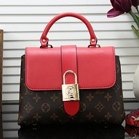 Louis Vuitton LV Women Fashion Leather Tote Crossbody Satchel