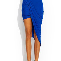 Twisted Unbalanced Skirt - Royal Blue