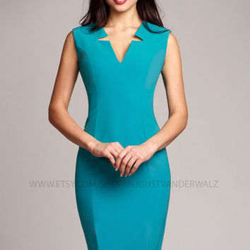 Midi dress, Turquoise dress, bodycon dress, casual dress, Short dress, elegant dress, evening dress, cocktail dress, prom dress, party dress