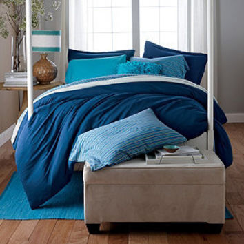 Solid Jersey Knit Duvet Cover/Comforter Cover and Sham