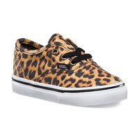 Vans Leopard Authentic, Toddlers (black/brown)
