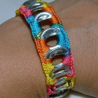 ReCycladelic Pop Top Bracelet Bubble Gum by lanmom on Zibbet