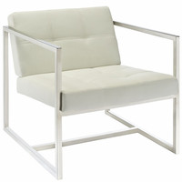Hover Lounge Chair White