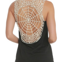 Teenage Runaway Spider Web Back Tank Top