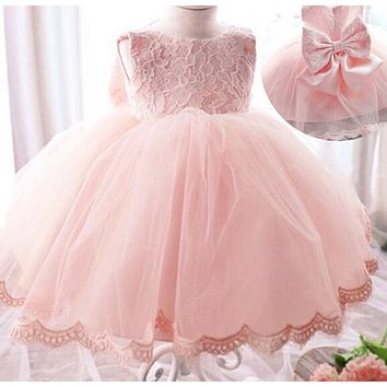 High Quality Baby Girl Dress Baptism Dress for Girl Infant 1 Year Birthday Dress for Baby Girl Chirstening Dress for newborn