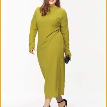Extended Sizes Plus Maxi Dress