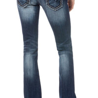 Miss Me Circle Studs Distressed Bootcut Jeans