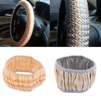 Universal Elastic Ice Silk Auto Car Steering Wheel Cover Anti-Slip Cool 38CM hot selling