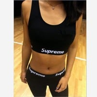 Supreme Sexy high pure cotton play sports suits