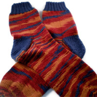 Socks - Hand Knit Men's Southwestern Striped Socks