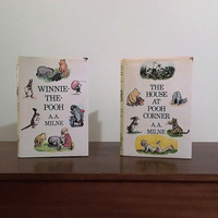 Vintage 1980s Editions of The House at Pooh Corner & Winnie-The-Pooh by A. A. MILNE / Pooh and Friends