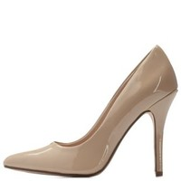 Beige Pointed Toe Stiletto Pumps by Charlotte Russe