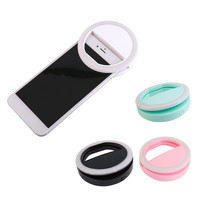 Portable Universal Mobile Phone Selfie Light Clip-On Design Luminous Lamp LED Flash Light Phone Ring For Iphone For Samsung