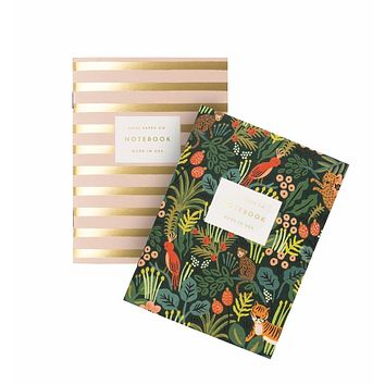 RIFLE PAPER CO. PAIR OF 2 JUNGLE POCKET NOTEBOOKS