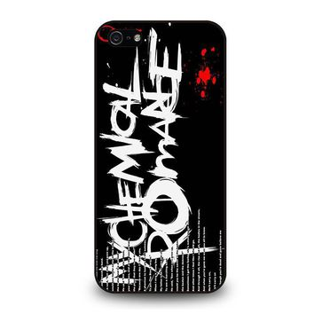 my chemical romance lyric iphone 5 5s se case cover  number 1