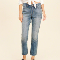 Girls High-Rise Vintage Straight Jeans | Girls Bottoms | HollisterCo.com