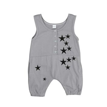 baby boy romper summer Toddler Kids Baby Girls Boys Printing Sleeveless Romper Jumpsuit baby boy Clothes