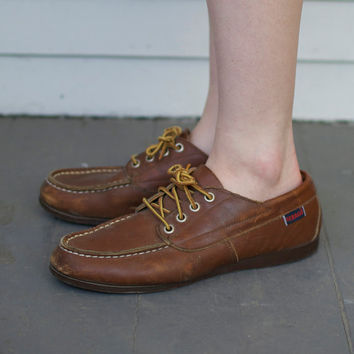 Vintage Leather Boat Shoes - Size 7