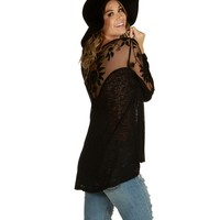 Black Sundown Dolman Top