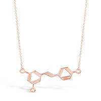 Rose Gold Wine Molecule Necklace