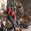 Handmade Blue and Red Howlite Turquoise and Millefiori Glass Bracelet | peaceloveandallthingsjewelry - Jewelry on ArtFire