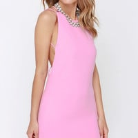 Home At Dawn Pink Backless Dress