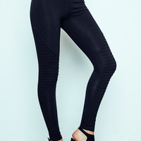 HIGH WAISTED MOTO LEGGING