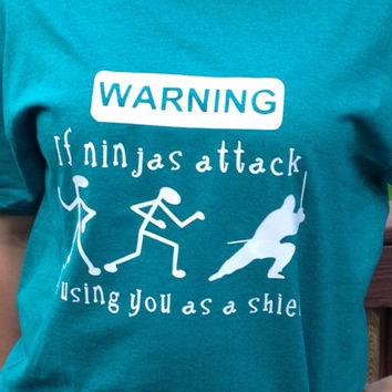 When Ninjas attack T-Shirt Meme