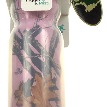 O2COOL Squeeze Mist N Sip Pink Mossy Oak Camo Insulated Water Bottle Insulated