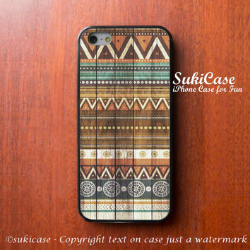AZTEC IPHONE 5S CASE Wood Tribal Native Wooden iPhone Case iPhone 5 Case iPhone 4 Case Samsung Galaxy S4 S3 Cover iPhone 5c iPhone 4s Cover