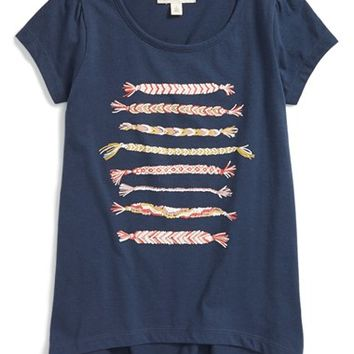 Girl's Tucker + Tate High/Low Graphic Tee