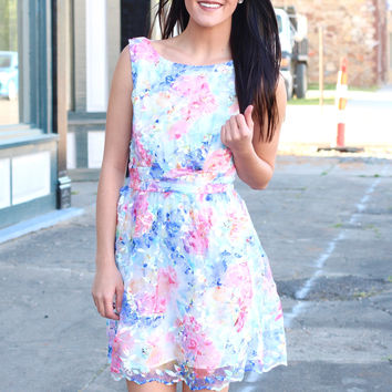 Wildflower Blooms Fit + Flare Dress {Ivory Mix}