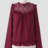 June Lace Detail Blouse